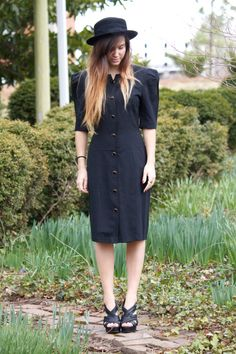 80s Vintage All That Jazz Button Up Dress by AnythingFab on Etsy, $19.99