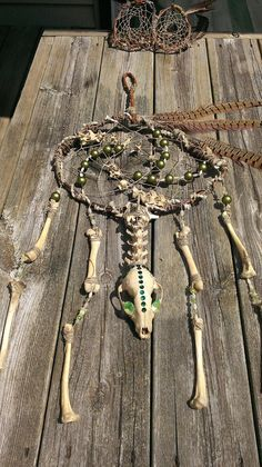 Bone Dream Catcher Real Animal Bone Artwork by FireStormBones