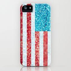 Red, White, and Glitter iPhone Case @Hillary Platt Bandley Platt Bandley please get this