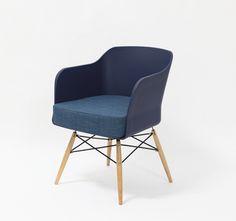 Krzesło Barone, granatowe
