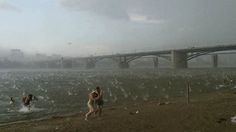 Tempête de grêle en Russie