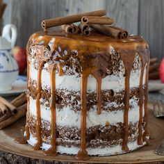 Apple Spice Cake with Caramel Drizzle Recipe - RecipeChart.com