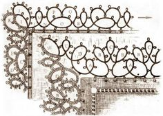 Lace for decoration napkins - 2 patterns