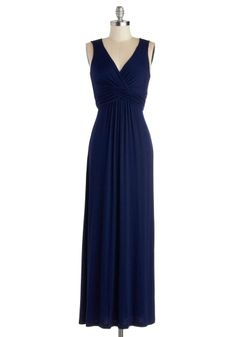 Juniper Berry Dress, #ModCloth I love navy, love maxi ...