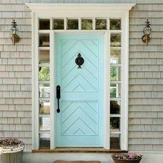 Blue door w/ chevron detail