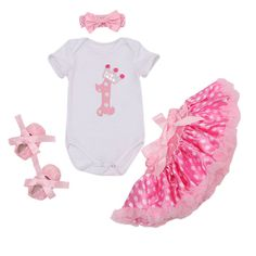 http://babyclothes.fashiongarments.biz/  4PCs per Set Newborn Baby Girls 1st Birthday Dress Polka Dots Skirts Headband Retro Rose Flower Shoes for 0-24Months, http://babyclothes.fashiongarments.biz/products/4pcs-per-set-newborn-baby-girls-1st-birthday-dress-polka-dots-skirts-headband-retro-rose-flower-shoes-for-0-24months/, Fashion 1st birthday crown pattern onesie matched with satin polka dots skirt, perfect for birthday party, also nice for baby wearing in daily life or party or special…