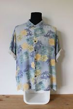 HAWAIIAN SHIRT mens floral tee HIPSTER trendy holiday fun BRIGHT VINTAGE Festive
