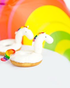 Rainbow unicorn POOL FLOAT donuts anyone?!?!!!!!  #donutworrybeawwsam