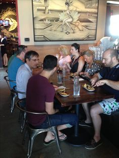 1/15/2016- At Wynwood Kitchen & Bar we begin our first food tasting on The Wynwood Art District Food Tour with chicken ropa vieja empanadas, ripen plantains and Venezuelan tequenos and of course an ice cold local la rubia beer !