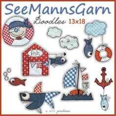 STICKDATEI Doodles SeeMannsGarn 13x18
