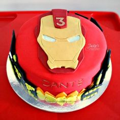 IronMan for Dante — Children's Birthday Cakes