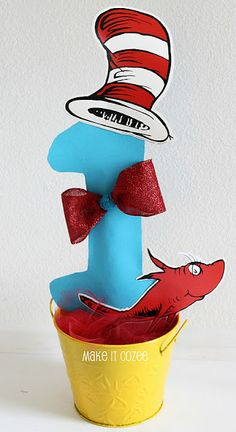 Dr. Seuss Birthday Party        Easy DIY Dr. Suess Centerpiece