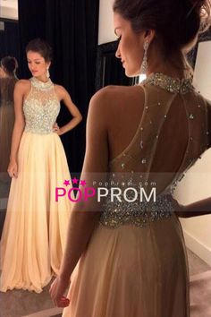 2016 Special Occasion Dresses High Neck Sleeveless Sweep/Brush Train (<30cm) Zipper Up Back With Beading/Sequins US$ 169.99 PPPFGR11MD - PopProm.com for mobile