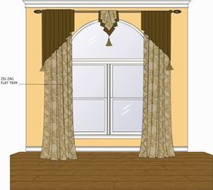 window valance for 18 in. wide window - Google Search
