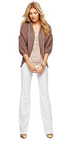 worthington jewel tank, pants, and sweater