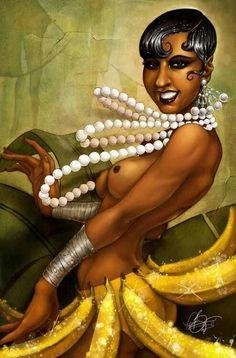 "Joséphine Baker | Performing her infamous dance, the ""Banana Dance."""
