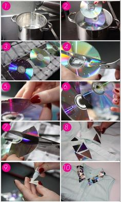 Cds on pinterest con cd manualidades and discos - Manualidades con cd viejos ...