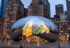 The infamous bean in Chicago - turned Blackhawks Bean!