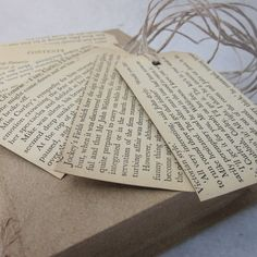 Repurposed Vintage Novel Gift Tags by PaperSpill on Etsy, £5.50