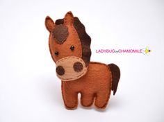 Felt HORSE stuffed felt Horse magnet or ornament Horse toy