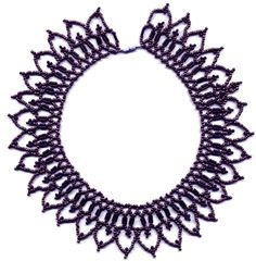 Free Beaded Necklace Patterns | Free pattern for beautiful beaded necklace Eva | Beads Magic