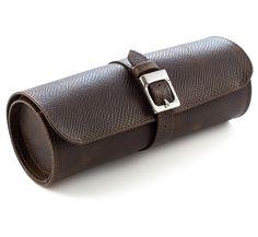 Pittards Explorer Brown Travel Watch Roll Leather Gifts, Leather Gloves, Leather Craft, Watch Travel Case, Watch Case, Leather Design, Briefcase, Vegan Leather, Organization