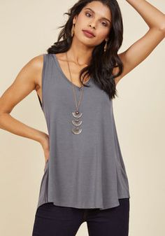 Endless Possibilities Tank Top in Grey