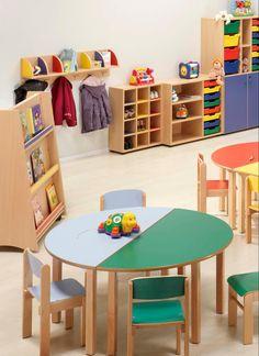 Mobiliario escolar para guarderías y jardín infantil.