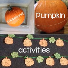 Pumpkin Learning Activities (letters, science, counting, art, games), Pumpkin Carving Activity, Pumpkin Books