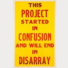 Un póster sobre la importancia de un buen brief. ;)