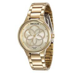 Relógio Feminino Seculus Aço Cód 28545LPSVDA1