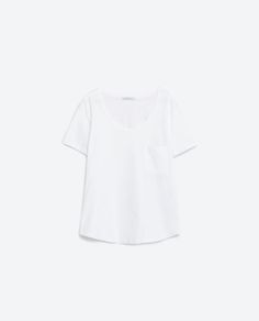 Image 8 of T-SHIRT WITH POCKET from Zara