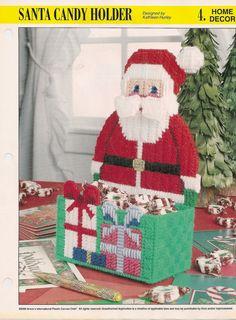 Santa Candy Holder Plastic Canvas Pattern by needlecraftsupershop, $4.99