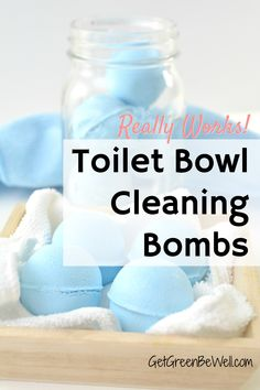Easily clean the grossest place in your home! These DIY toilet bombs use all natural ingredients to safely clean the toilet. Just drop one in for nontoxic green cleaning and no work from you! Eco Friendly Cleaning Products, Homemade Cleaning Products, Natural Cleaning Products, Homemade Soaps, Eco Friendly Cleaners, Diy Soaps, Homemade Beauty, Tips And Tricks, Fizzy Toilet Bombs