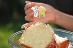 Fresh {or not} Coconut Loaf Cake ~ two recipe versions with directions (@ the link on this page) for either with fresh coconut or dried. :)