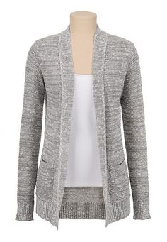 Textured Open Stitch Cardiwrap with pockets available ...