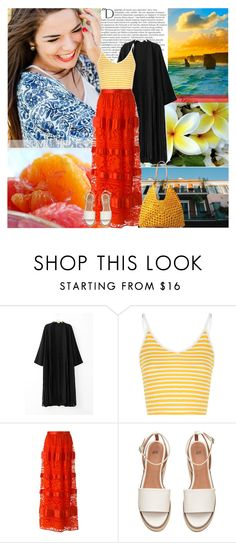 """""""Have a Bright Summer!"""" by africagirls ❤ liked on Polyvore featuring Balmain, Glamorous, Temperley London and Mar y Sol"""