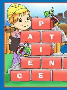 A game about patience, for 2 players. The first player to build their wall of patience by having a brick card on each letter, is the winner. Print and cut out the game and pieces. Choose which side of the wall each player will build up. 1. Place the brick cards face down. 2. Take turns picking a brick card and reading it. 3. If the first letter of the sentence starts with a letter that is still available on the board, place that brick card on top of the letter.