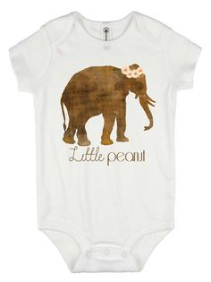 Personalized baby gift birth announcement elephant gift for baby shower gift little peanut baby onesie newborn gift baby elephant boho negle Gallery