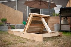 Sunchair made from pallets. #recycle #pallet #chair