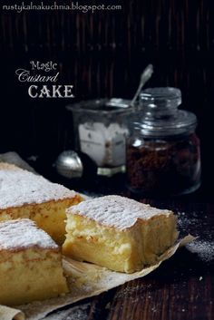 rustic kitchen - cooking at home: Magic Custard Cake