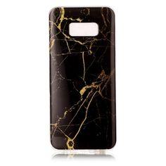 Coque Samsung Galaxy S8 Plus Marbre - Noir / Or