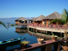 Inle Paradise Lake Resort Myanmar Burma only accessible by boat very peaceful http://www.inleparadise.com/gallary_inle.htm