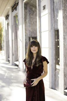 red velvet dress | Jenny Cipoletti of Margo & Me