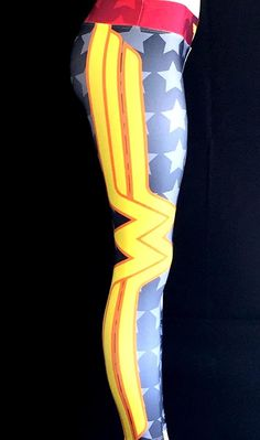 Everyone loves the superhero, Wonder Woman from the Justice League of the DC Comics universe! These super colorful and fun leggings fit great, last forever and will make your friends jealous! FEATURES