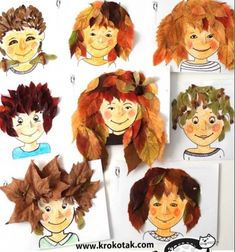 Fall hairstyles - fun fall leaf crafts for kids Informations About Mindy - craft & DIY tutorials > 5 Autumn Activities For Kids, Fall Crafts For Kids, Diy For Kids, Kids Crafts, Autumn Crafts, Autumn Leaves Craft, Autumn Art, Christmas Craft Projects, Christmas Decor