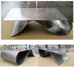Table basse on pinterest google bureau design and - Table basse metal noir ...