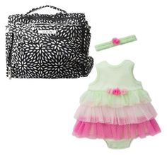 """""""Mori Newborn"""" by shattereddemon ❤ liked on Polyvore featuring Little Me and Ju Ju Be"""