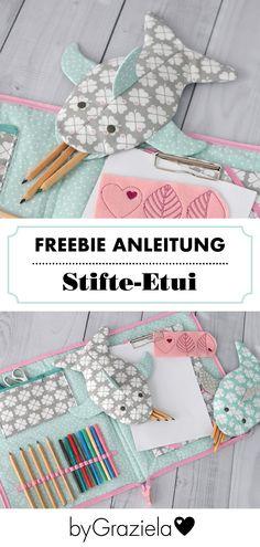 Der kleine Vielfraß – ein süßes Stifte-Etui, das jedes Kind lieben wird. Mit der kostenlosen Anleitung von Lila & Mint könnt ihr das Federmäppchen in Fischform ganz leicht Nachnähen. Das Freebie findet ihr bei uns auf dem Blog.