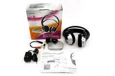 Radio Shack Stereo Infrared Wireless Transmitter Headphone System 33-1234 In Box